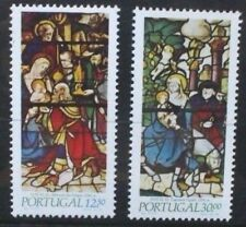 PORTUGAL 1983 Christmas Stained Glass Windows Set of 2 Mint Never Hinged 1939/40
