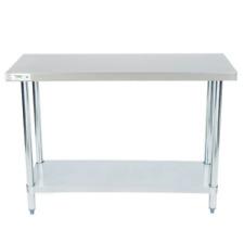 """Stainless Steel Work Prep Shelf Table Commercial Restaurant 18 Gauge 18"""" x 48"""""""