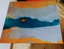 32x30x1 Teal, Orange, with sparkles & Grey Epoxy Table Top