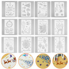 12X  Decorative Scrapbooking Merry Christmas Painting Template Layering Stencils