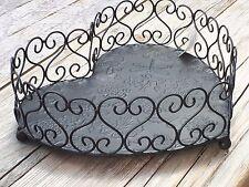 Metall Herz Schale Korb Dekoration Tisch Obstschale 21199 groß Shabby Ranke