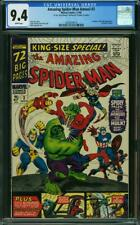 Amazing Spider-Man Annual #3 CGC 9.4 Marvel 1966 Thor! Avengers! WP! K8 210 1 cm