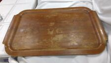 "VINTAGE McGRAW ELECTRIC TOASTMASTER WOOD HOSPITALITY SERVING TRAY 24"" X 16"""