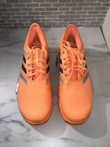 Adidas Sole Court Boost W Orange Tennis Shoes Sneakers EF2076 Womens Size 9.5