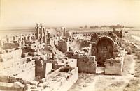 ND, Algérie, Tébessa, Ruines de la Basilique Byzantine  Vintage albumen print. V
