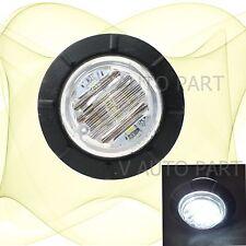 """12V White 1-1/4"""" Round Side Light 6 LED Marker Waterproof Lamp Trailer Caravan"""