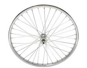"BICYCLE STEEL FRONT WHEEL 24"" x 1.75 X 12G HEAVY DUTY SPOKES BIKES"