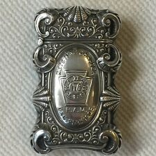 STERLING SILVER MATCH SAFE~ FREEMASON MASONS, MASONIC LODGE ~ DEC 25, 1905