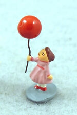 J CARLTON BY GAULT FRENCH MINIATURE FIGURINE CUTE GIRL WITH BALLOON IN PARIS