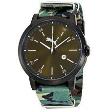 Puma Liberated Green Dial Mens Camo Watch PU104231004U