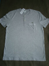 LACOSTE GRAY 2 BUTTON T-SHIRT SIZE LG/6
