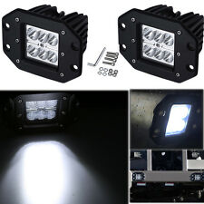 2x 18W Flush Mount Cree Spot LED Work Light Bumper 4WD Off Road Fog Lamp Truck