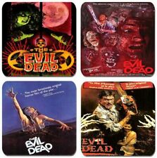 The Evil Dead Vintage Movie Poster Coasters Set Of 4 High Quality Cork Backed
