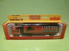 SOLIDO 3502 SAVIEM TRUCK + TRAILER - RENAULT VEHICLES - RED 1:60? - GOOD IN BOX