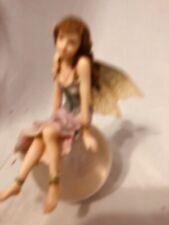 "Miniture Fairy Bubble Rider Figurine.""Moonglimme r"""