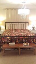Chintz ~ Garden Gate King comforter~ MINT~ plush thick bedspread Floral Pattern
