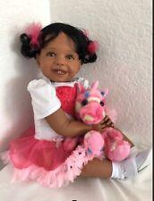 "Reborn 23""Biracial Ethnic AA Toddler Girl Doll ""Samantha"""