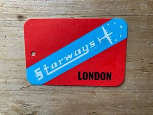 Starways ltd London baggage tag / card very rare late 1950's early 60's