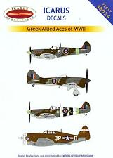 Icarus Decals 1/48 GREEK ALLIED ACES OF WORLD WAR II