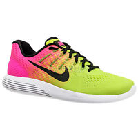 New $120 Nike LunarGlide 8 OC Mens Running Shoes, Volt / Pink (Olympic Colorway)