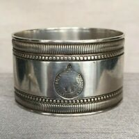 Rare Cunard Anchor Brocklebank Line Napkin Ring No. 6 Silver Plate