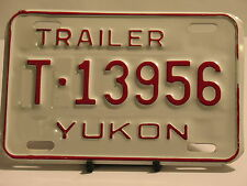 NOS License Plate Trailer Yukon T 13956 New Truck Car Garage Man Cave
