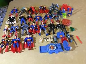 "21 Loose Superman 6"" Loose Action Figures Lot With Acessories DC Comics"