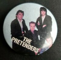 "VINTAGE ""The Pretenders"" 1.25"" Round Concert Button Pin Circa 1980's"