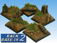 40mm Resin Scenic Bases (5) Square Forest Warhammer