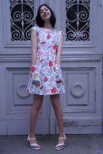 Damen Kleid Blumenkleid 60er True VINTAGE 60's woman flower dress Damenmode