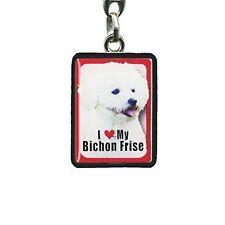 Bichon Frise Metal Keyring, Dog Collectables, Car Keys, House Keys, Gifts PEK008