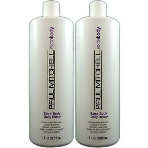 Paul Mitchell Extra Body Daily Rinse Liter 33.8oz Pack of 2