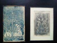Rare paire de tableaux Alix Haxthausen artiste danoise école de Paris