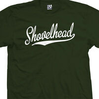Shovelhead Script Tail T-Shirt - Classic Bike Biker Motor - All Sizes & Colors