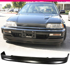 Fit 1988-1991 Honda CRX PU Black New Front Bumper Lip Bodykit CS Style