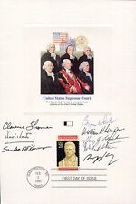 Supreme Court Hand Signed 6x9 Fleetwood Card Signed By 8 Justices Jsa