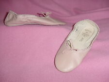 GIRLS Light Pink Leather Ballet Slippers / Shoes by Capezio Teknik 5EE    NEW