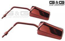 2x f1 Specchio Set Rosso con filettatura m8 PER MOTO QUAD ATV SCOOTE R Roller