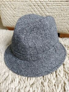 FABULOUS AUTHENTIC YORKSHIRE TWEED BY MOON LADIES WOOL GREY HAT M&S SIZE SMALL