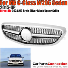 Front Hood Grille 2015-2017 W205 C63 AMG Style Luxury Package Bumper C-Class