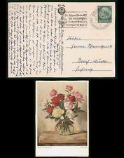 Mayfairstamps Germany 1938 Stuttgart Painting Vase of Flowers Postcard wwr_02455