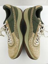 Puma Leather Men's Size 10 Shoes Tan Olive Green Sneakers Weaved #202