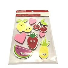 LOT OF 16 Creatology Valentine's Day Google Eyes Fruit Foam Stickers NEW