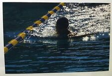 Vintage 90s PHOTO Teen Swimmer Coming Up For Air
