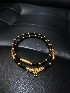 Kala Necklace 24k gold laser 26 inch forThai buddha amulet phra somdej pendant.