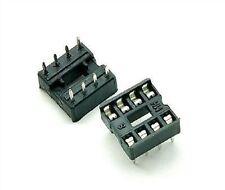 25Pcs Socket Pcb Mount Connector Dip 8Pins Dil 8-Pin Ic New Q
