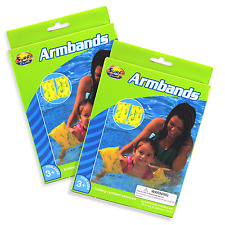 Kid's Inflatable Armbands 2 Sets Non-slip 2 Air Pockets Children Swimming Pool