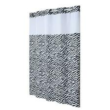 Hookless® Plain Weave Animal   zebra Shower Curtain | Includes Snap On/Off new