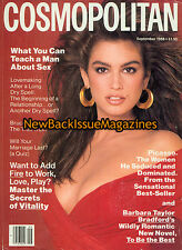 Cosmopolitan 9/88,Cindy Crawford,September 1988,NEW