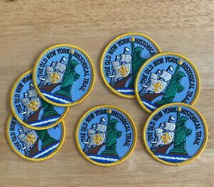 Seven (7) The Old New York Historical Trail award patches
